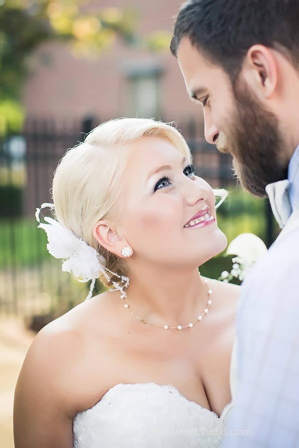 Bride and Groom Portraits at Grace United Methodist church