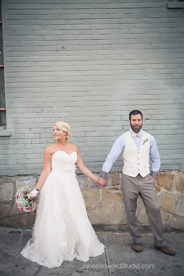 Bride and Groom portraits at The Fainting Couch Atlanta