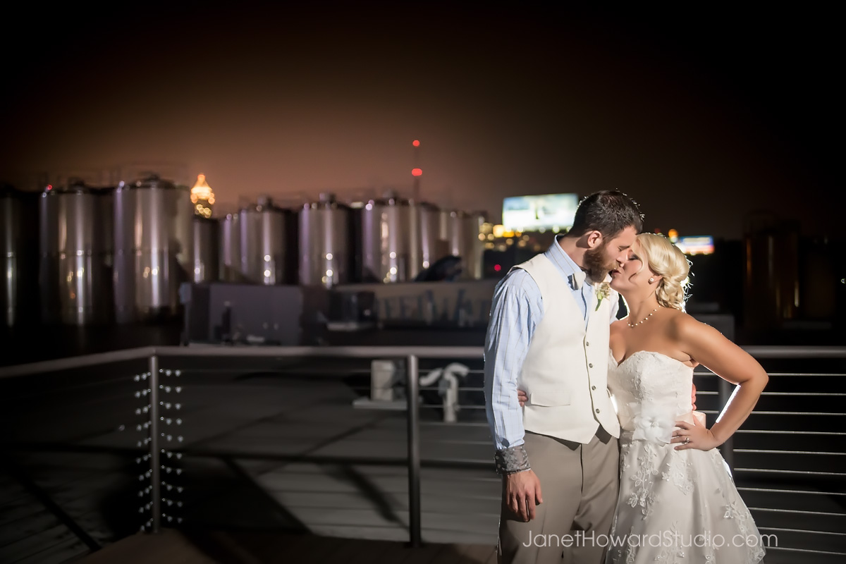 Bride and Groom at Sweetwater Brewing Atlanta