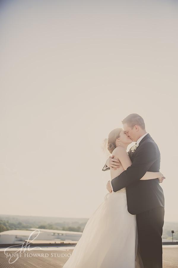 Bride and groom at Ventanas helipad