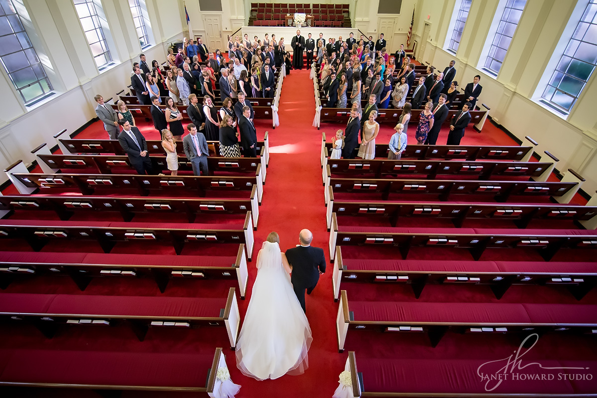 Wedding ceremony at Westminster Presbyterian