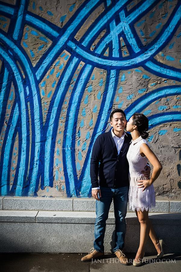 Decatur Square engagement portraits