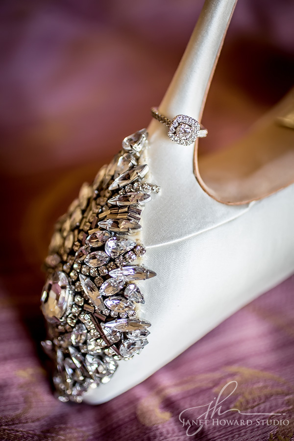 bridal shoes with bling