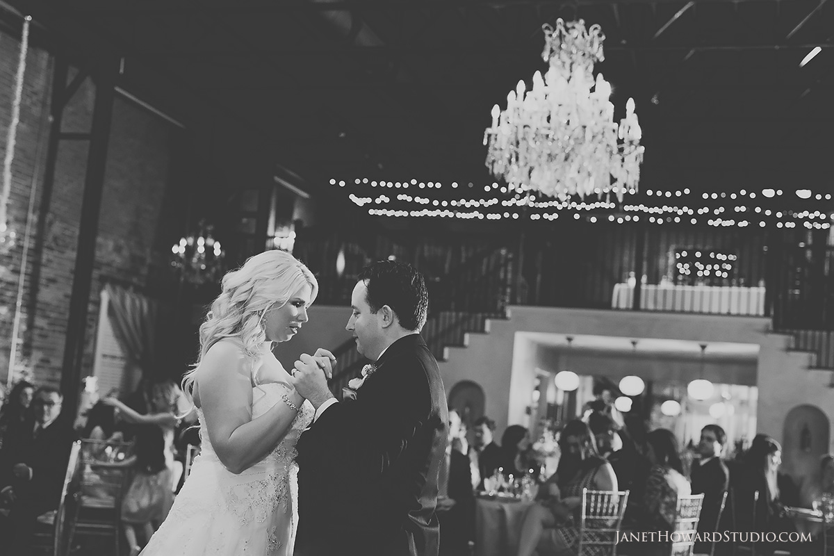 bride + groom first dance