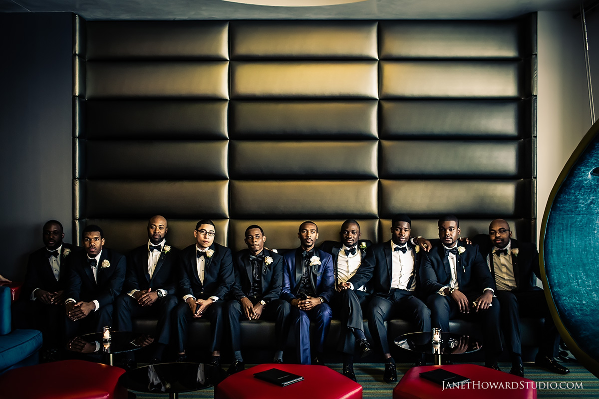 Wedding photos at W Midtown Atlanta | Groomsmen