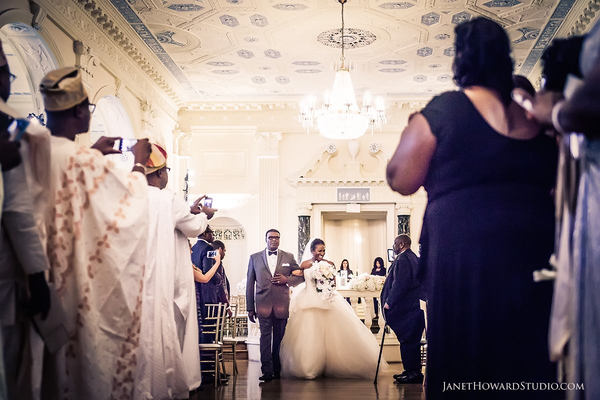 Wedding ceremony at the Biltmore Ballrooms Atlanta