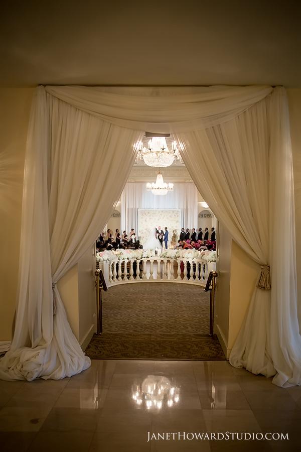 Wedding ceremony at the Biltmore Ballrooms Atlanta