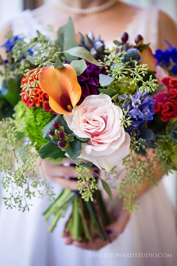 Colorful bride bouquet