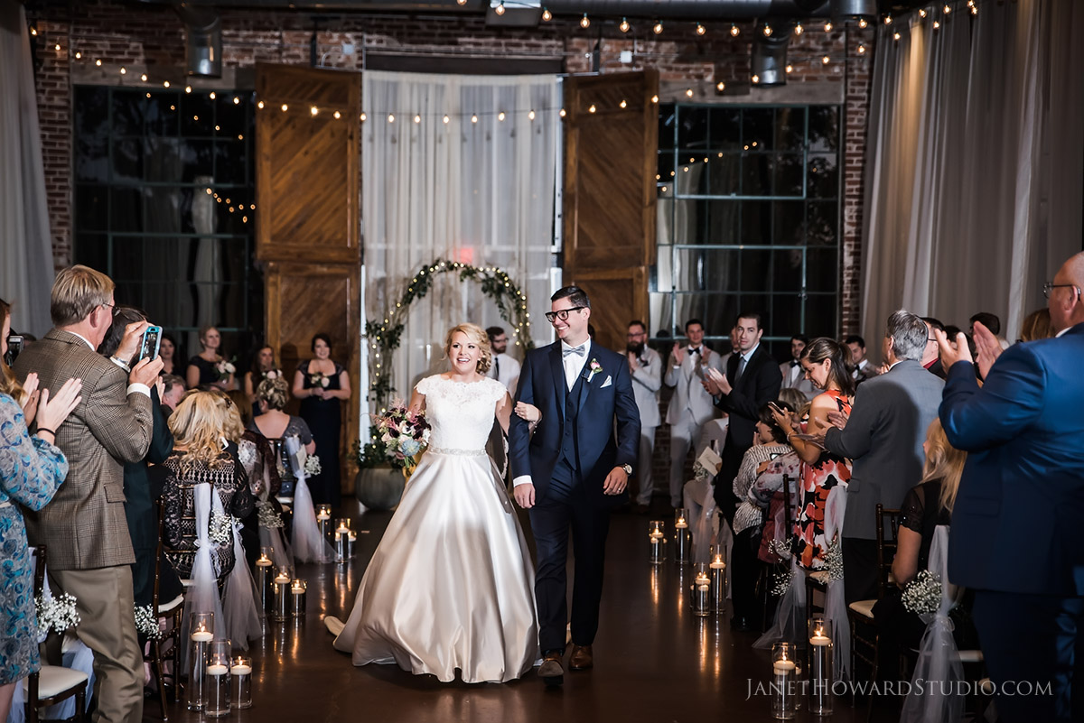 Wedding Ceremony at The Foundry at Puritan Mill in Atlanta