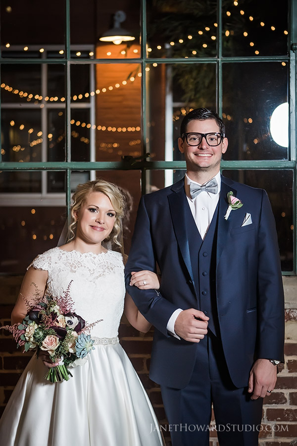 Bride and Groom at The Foundry at Puritan Mill