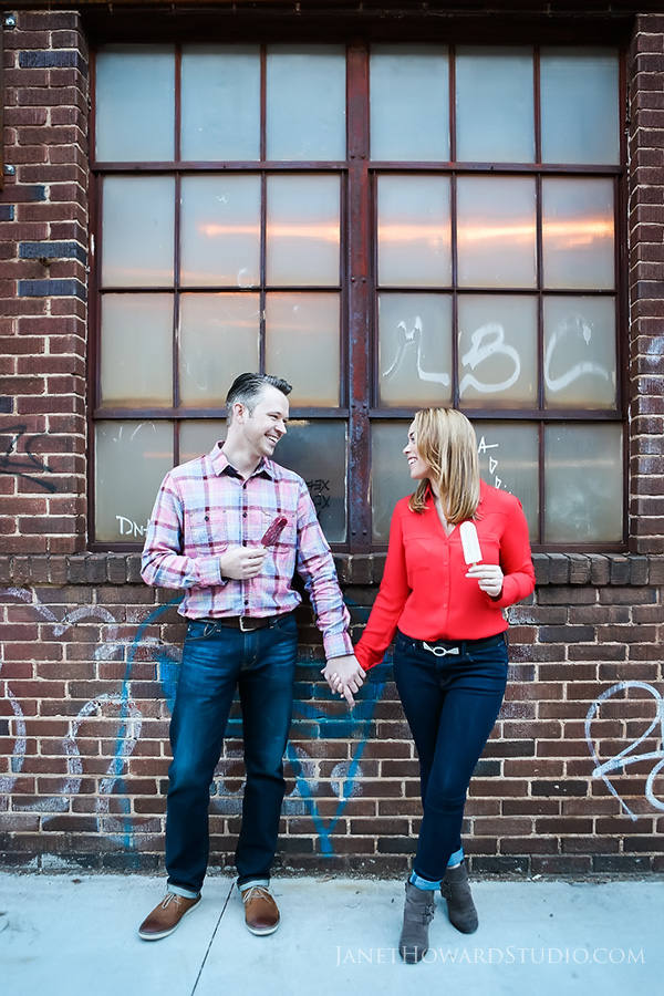 king of pops engagement photos