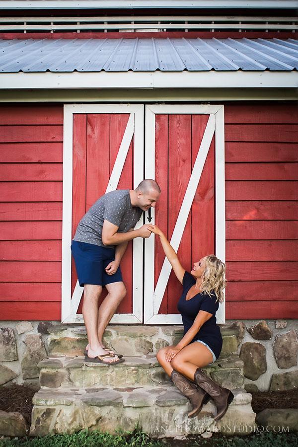 Copper Creek Farm engagement photos