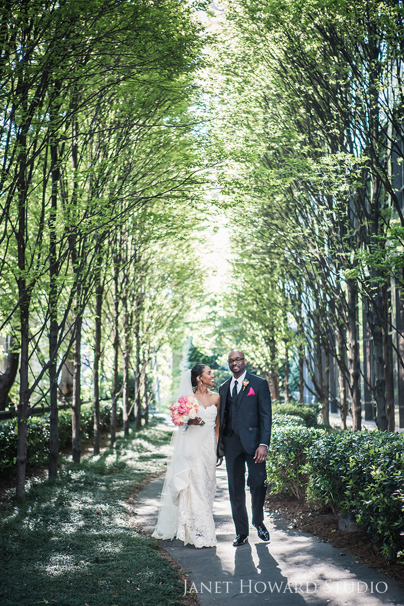 Bride and groom at Wimbish House