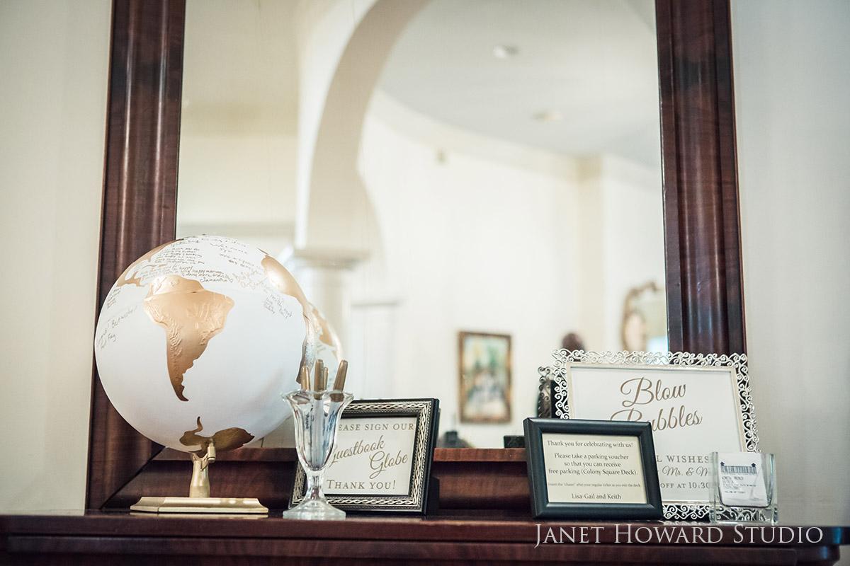 Guest book alternative - globe