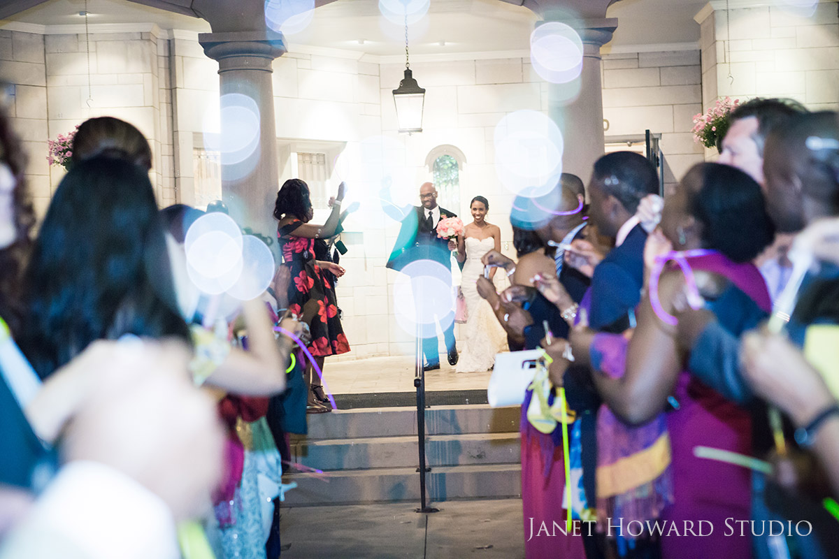 Wedding Bubble departure at Wimbish House