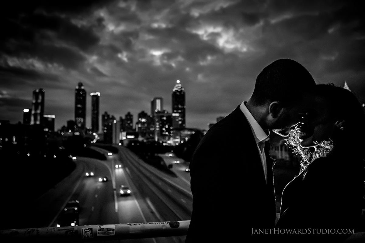 Atlanta engagement photos at Jackson Street Bridge