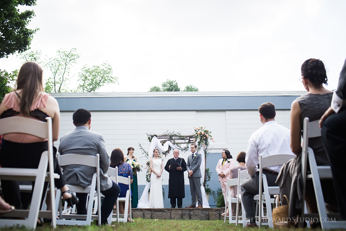 wedding ceremony at Town & Gown Theater Athens GA