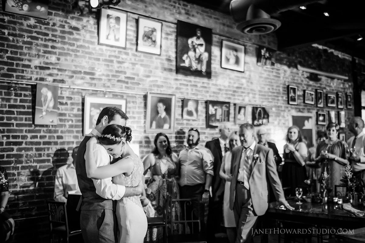 wedding reception at Hendershots in Athens GA