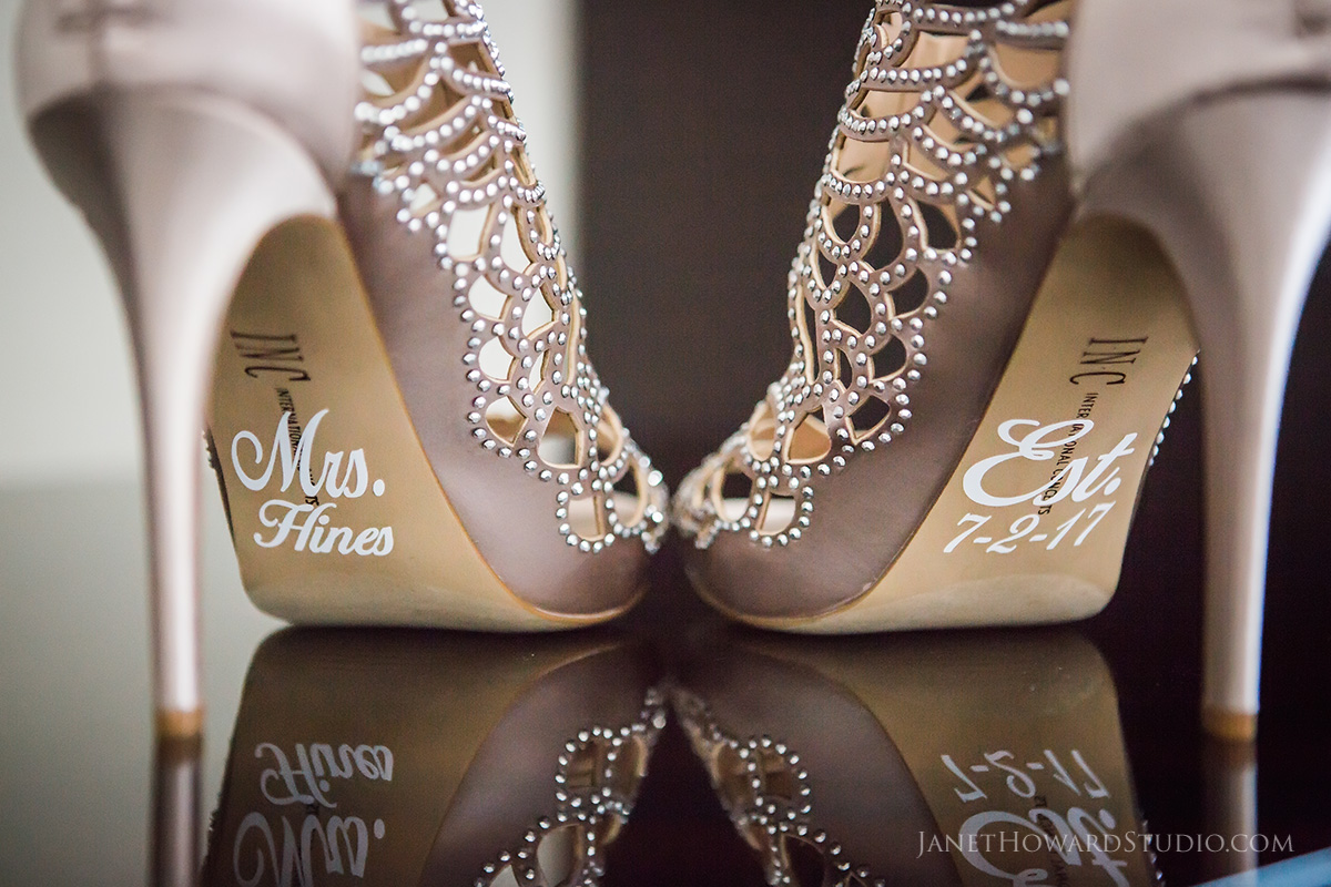 Bridal shoes decals