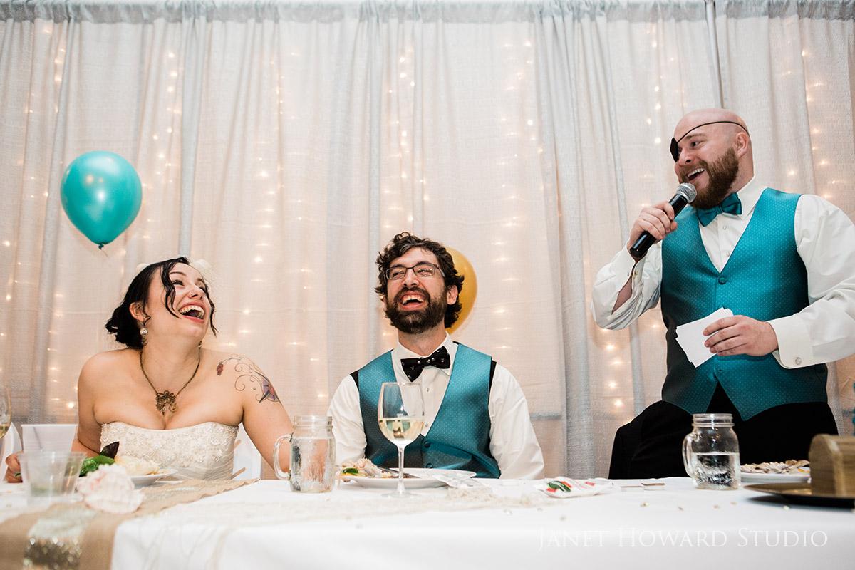 Wedding reception toasts
