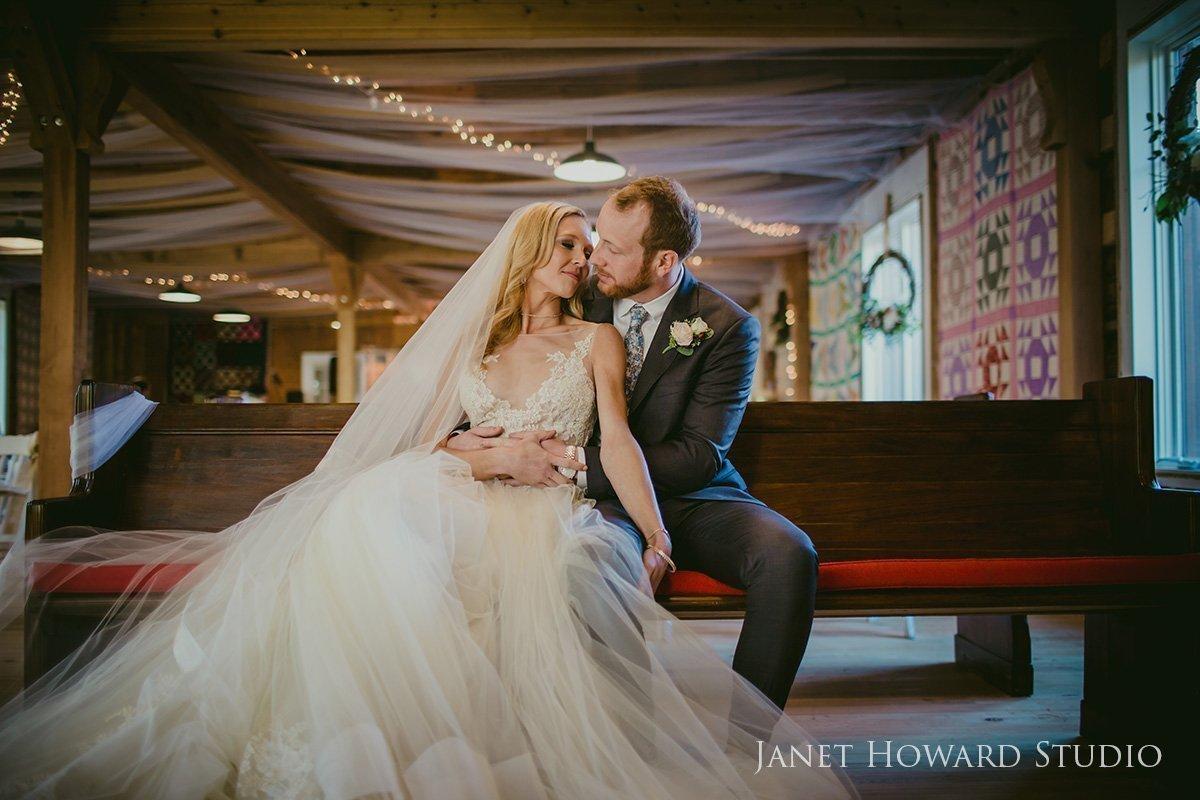 rustic barn wedding bride and groom