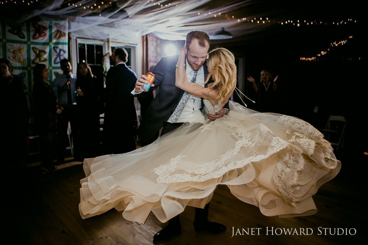 barn wedding reception dance