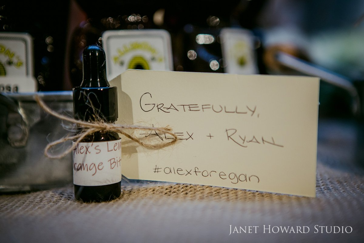 homemade bitters wedding favor