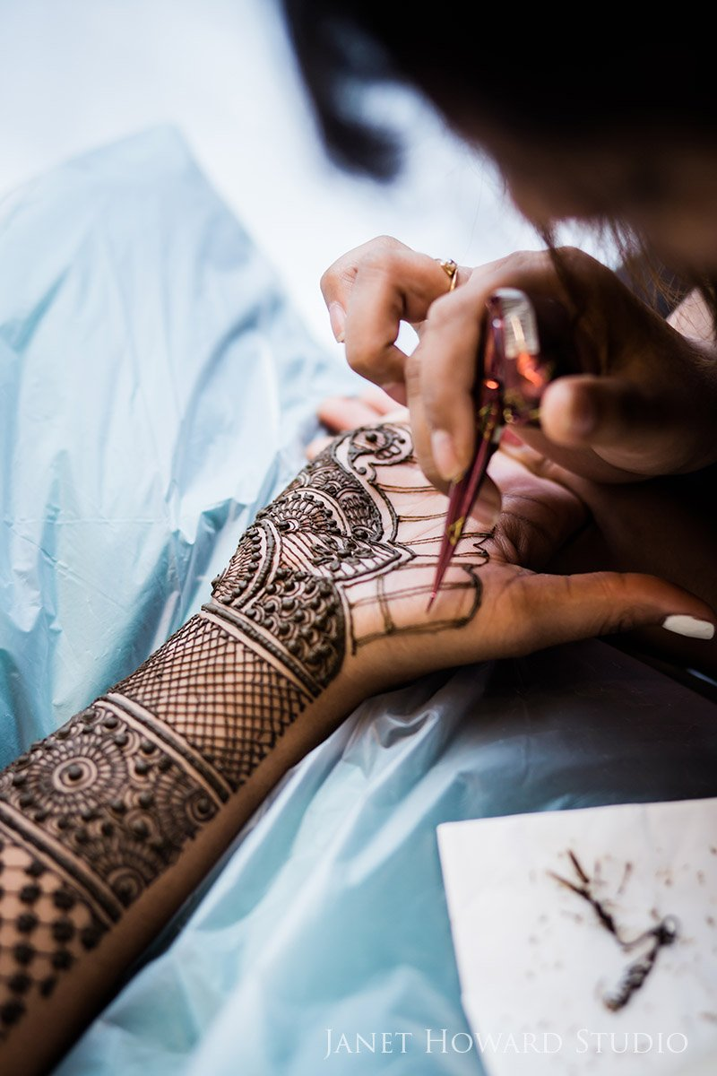 Indian pre-wedding mehndi