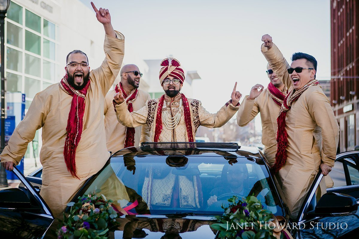 Groomsmen during Barat