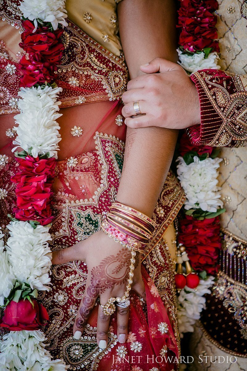 Indian wedding bride and groom