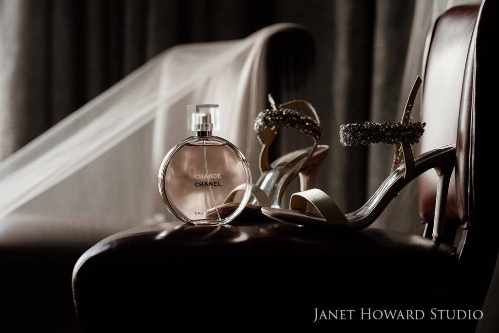 Wedding shoes and Chanel perfume