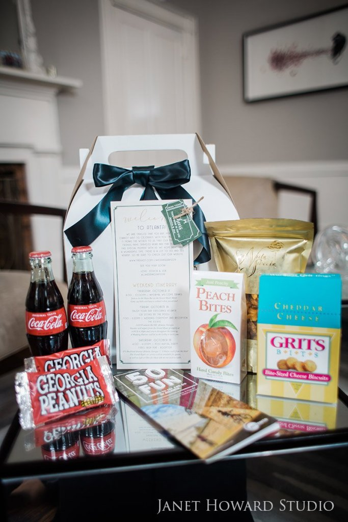 Georgia gift bag for out of town wedding guests