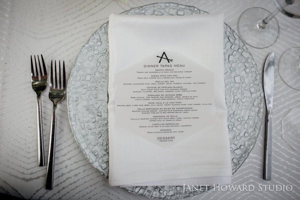 acrylic menu cards