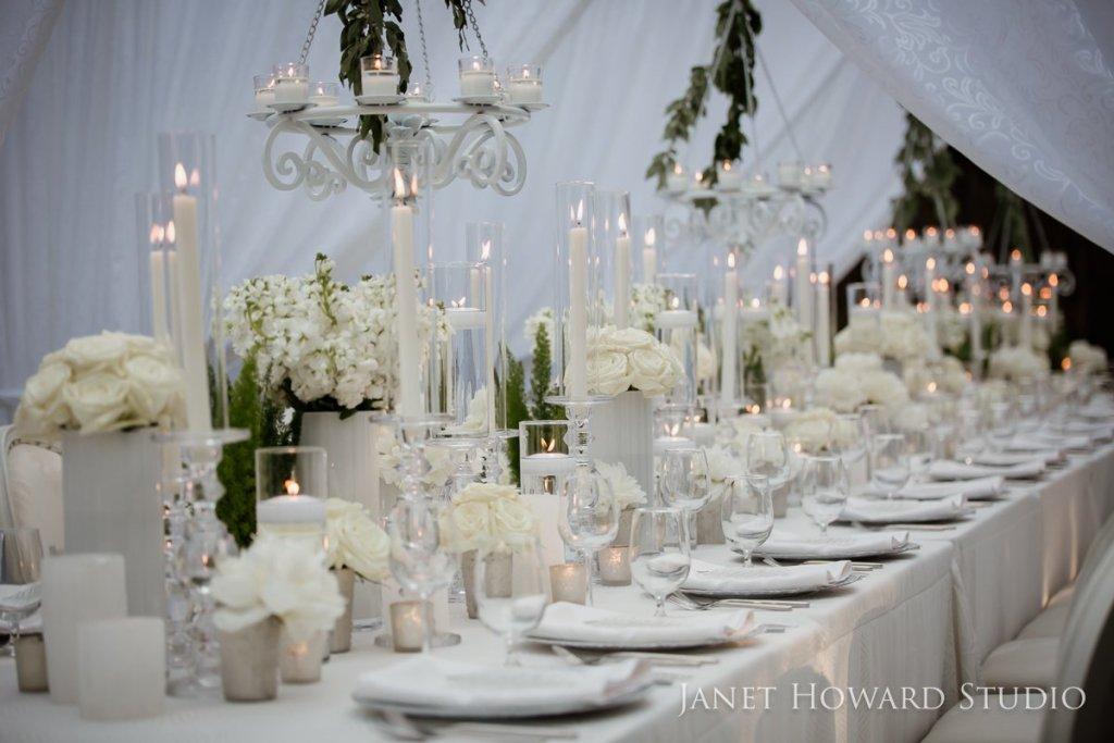 white estate table