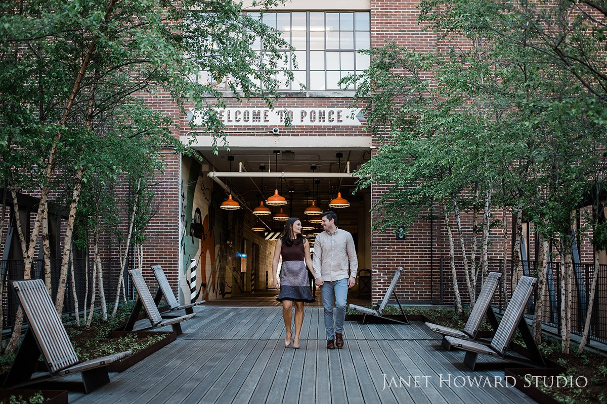 Atlanta Engagement Photo Shoot Ponce City Market
