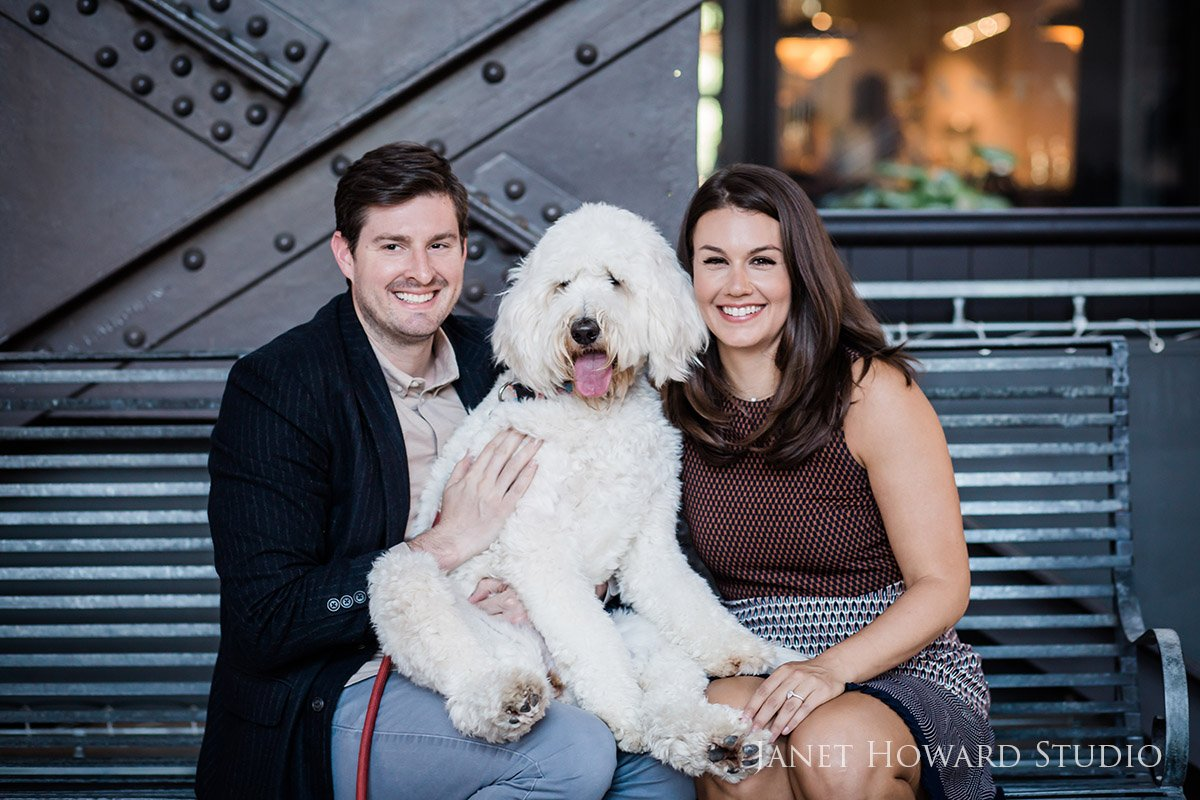Atlanta Engagement Photo Shoot with Dogs