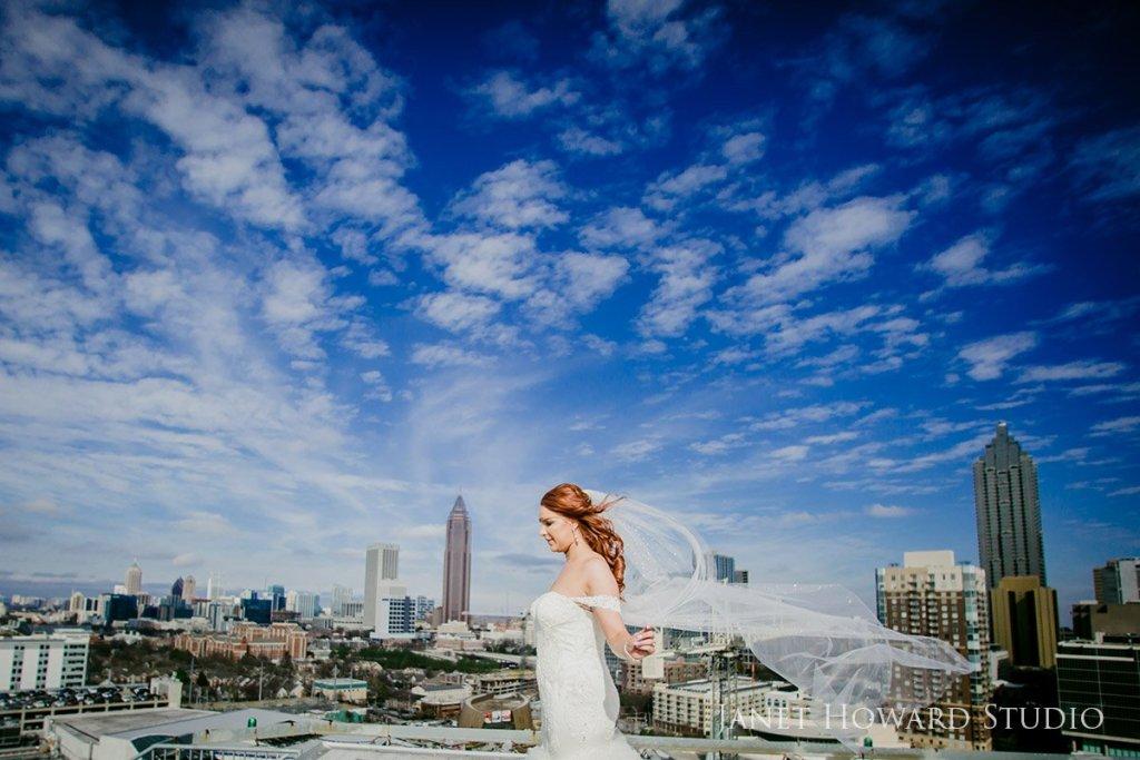 Bride on helipad at Ventanas Atlanta