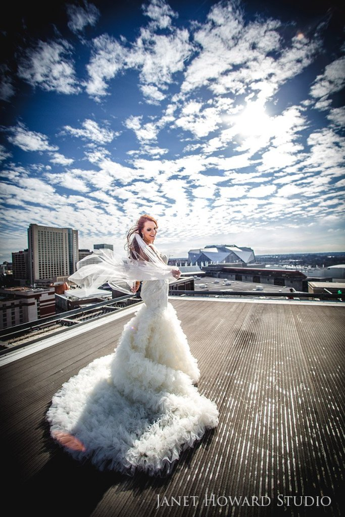 Bride on helipad at Ventanas