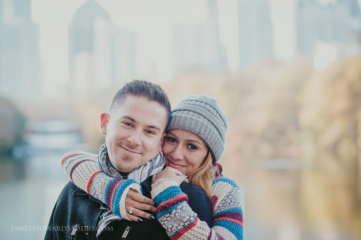 Piedmont Park Couple Engagement Photo