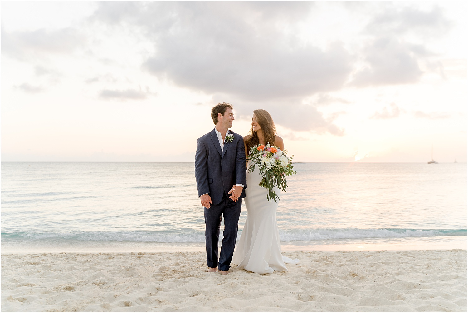 elegant cayman beach wedding