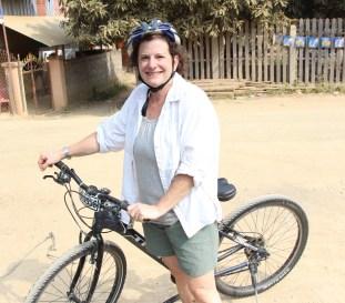 Biking in Laos