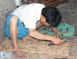 Carving teak in Mandalay.