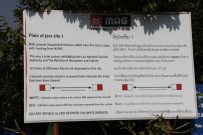 Mine Advisory Group warning about unexploded bombs at Plain of Jars