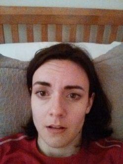 My face: post-hills, pre-bath & tea