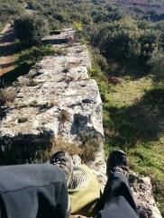 Chillin atop a Roman aqueduct