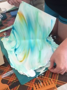 Paper marbling process 1