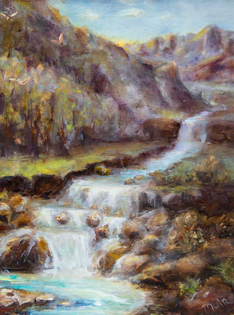Oil Painting of a river