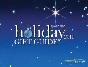 Holiday Gift Guide cover design.