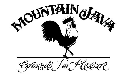 Hand-lettering, digital illustration and logo design for Mountain Java coffee and gift shop in McCall, ID .