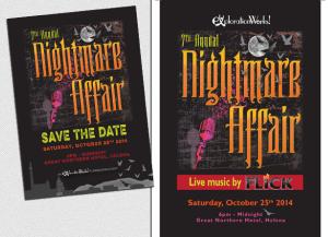 Event program design and digital illustration for annual non-profit fundraising event.